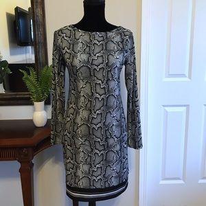 Michael Kors Snake Print Dress Size Small